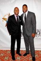 Rising Stars Jay Williams with 2009 Rising Stars Man of the Year - Michael Strahan